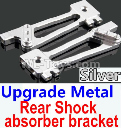 Wltoys 10428-B2 RC Car Upgrade Metal Rear Shock absorber bracket-Silver-2pcs-K949-26,Wltoys 10428-B2 Parts