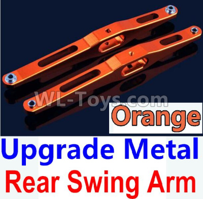 Wltoys 10428-B2 RC Car Upgrade Metal Rear Swing Arm-Orange-2pcs-K949-29,Wltoys 10428-B2 Parts
