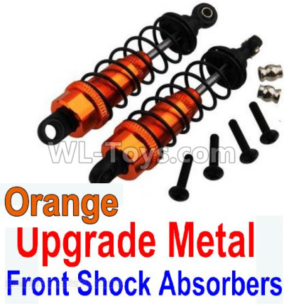 Wltoys 10428-B2 RC Car Upgrade Metal Front Shock Absorbers(2pcs)-Orange,Wltoys 10428-B2 Parts