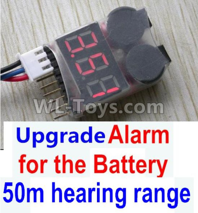 Wltoys 10428-B2 RC Car Upgrade Alarm for the Battery,Can test whether your battery has enouth power,Wltoys 10428-B2 Parts