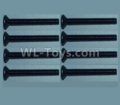 Wltoys 10428-B2 RC Car Parts-Flat head inner hexagon Screws-M2X16-(8pcs),Wltoys 10428-B2 Parts