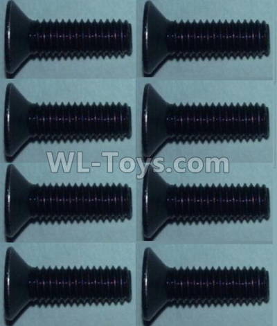 Wltoys 10428-B2 RC Car Parts-Flat head inner hexagon Screws-M3X10-(8pcs),Wltoys 10428-B2 Parts