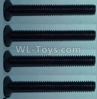 Wltoys 10428-B2 RC Car Parts-Flat head inner hexagon Screws-M4X32-(4pcs),Wltoys 10428-B2 Parts