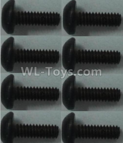 Wltoys 10428-B2 RC Car Parts-Pan head inner hexagon Screws-M2X6-(8pcs),Wltoys 10428-B2 Parts
