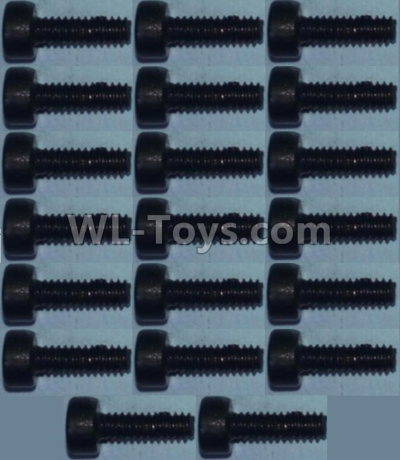 Wltoys 10428-B2 RC Car Parts-Cup head inner hexagon Screws M2X6-(20pcs),Wltoys 10428-B2 Parts