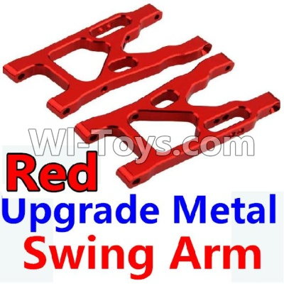 Wltoys 10428-A Car Upgrade Parts-Upgrade Metal Swing Arm-Red-2pcs,Wltoys 10428-A Mods