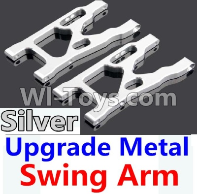 Wltoys 10428-A Car Upgrade Parts-Upgrade Metal Swing Arm-Silver-2pcs,Wltoys 10428-A Mods