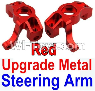 Wltoys 10428-A Car Upgrade Parts-Upgrade Metal Steering arm-Red-2pcs,Wltoys 10428-A Mods