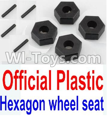 Wltoys 10428-A Car Parts-Plastic 12MM Hexagon wheel seat,Tire adapter Parts-(4pcs),Wltoys 10428-A Mods