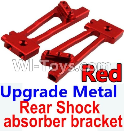 Wltoys 10428-A Car Upgrade Parts-Upgrade Metal Rear Shock absorber bracket-Red-2pcs,Wltoys 10428-A Parts