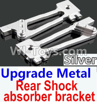 Wltoys 10428-A Car Upgrade Parts-Upgrade Metal Rear Shock absorber bracket-Silver-2pcs,Wltoys 10428-A Parts