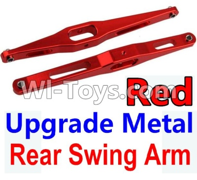 Wltoys 10428-A Car Upgrade Parts-Upgrade Metal Rear Swing Arm-Red-2pcs,Wltoys 10428-A Parts