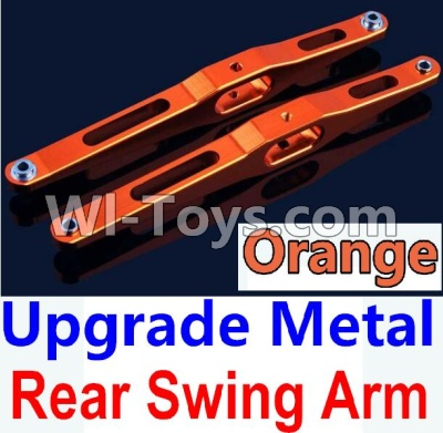 Wltoys 10428-A Car Upgrade Parts-Upgrade Metal Rear Swing Arm-Orange-2pcs,Wltoys 10428-A Parts