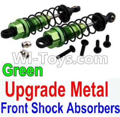 Wltoys 10428-A Car Upgrade Parts-Upgrade Metal Front Shock Absorbers(2pcs)-Green