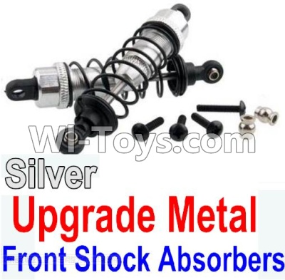 Wltoys 10428-A Car Upgrade Parts-Upgrade Metal Front Shock Absorbers(2pcs)-Silver
