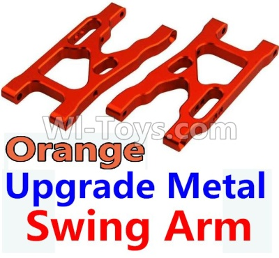 Wltoys 10428-B Upgrade Parts-Upgrade Metal Swing Arm Parts-Orange-2pcs,Wltoys 10428-B Parts