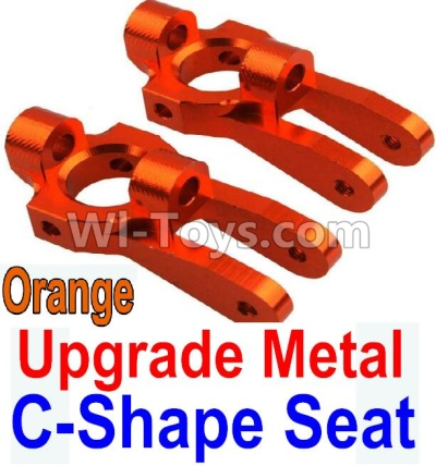 Wltoys 10428-B Upgrade Parts-Upgrade Metal C-Shape Seat Parts-Orange-2pcs,Wltoys 10428-B Parts