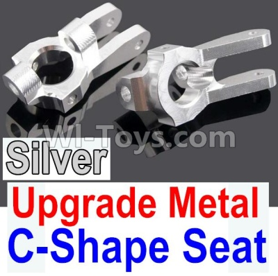Wltoys 10428-B Upgrade Parts-Upgrade Metal C-Shape Seat Parts-Silver-2pcs,Wltoys 10428-B Parts