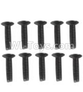 Wltoys 10428-B RC Car Parts-A929-60 Countersunk head inner hexagon Screws Parts-M3X16-Black zinc plated(10PCS),Wltoys 10428-B Parts