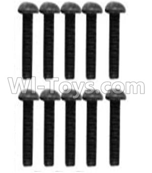 Wltoys 10428-B RC Car Parts-A929-75 Pan head inner hexagon Screws Parts-M3X10-Black zinc plated(10PCS),Wltoys 10428-B Parts