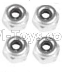 Wltoys 10428-B RC Car Parts-A929-94 M4 Locknut(4PCS),Wltoys 10428-B RC Car Parts,High speed 1:10 Scale 4wd,10428-B Electric Power On Road Drift RacinAg Truck Car Parts