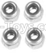 Wltoys 10428-B RC Car Parts-A929-95 M3 Locknut(4PCS),Wltoys 10428-B Parts