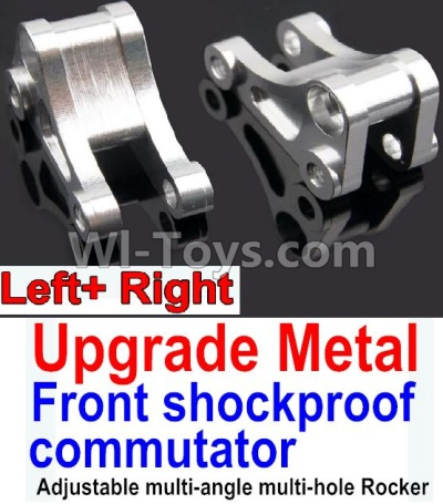 Wltoys 10428-B Upgrade Parts-Upgrade Metal Front shockproof commutator(Left and Right)-Silver,Wltoys 10428-B Parts