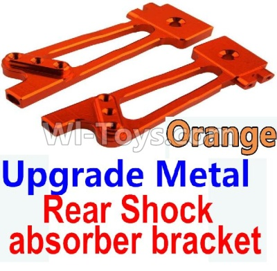 Wltoys 10428-B Upgrade Parts-Upgrade Metal Rear Shock absorber bracket Parts-Orange-2pcs,Wltoys 10428-B Parts