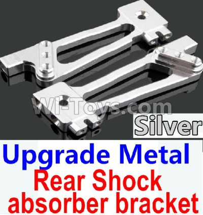 Wltoys 10428-B Upgrade Parts-Upgrade Metal Rear Shock absorber bracket Parts-Silver-2pcs,Wltoys 10428-B Parts