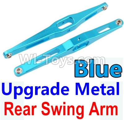 Wltoys 10428-B Upgrade Parts-Upgrade Metal Rear Swing Arm Parts-Blue-2pcs,Wltoys 10428-B Parts