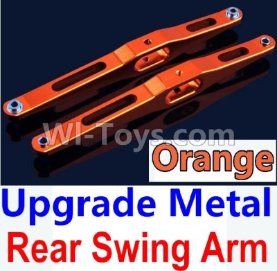Wltoys 10428-B Upgrade Parts-Upgrade Metal Rear Swing Arm Parts-Orange-2pcs,Wltoys 10428-B Parts