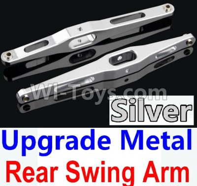Wltoys 10428-B Upgrade Parts-Upgrade Metal Rear Swing Arm Parts-Silver-2pcs,Wltoys 10428-B Parts