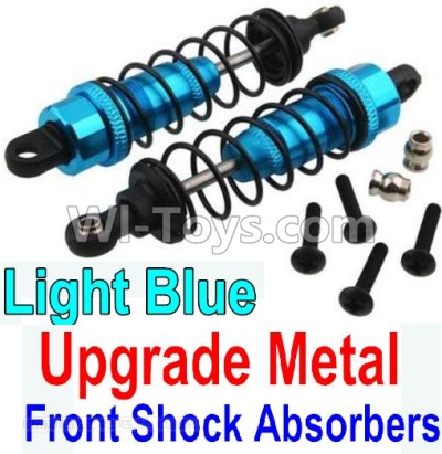 Wltoys 10428-B Upgrade Parts-Upgrade Metal Front Shock Absorbers Parts(2pcs)-Light Blue,Wltoys 10428-B Parts