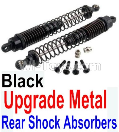 Wltoys 10428-B Upgrade Parts-Upgrade Metal Rear Shock Absorbers Parts(2pcs)-Black,Wltoys 10428-B Parts