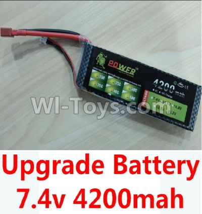 Wltoys 10428-B Upgrade Parts-Upgrade 7.4v 4200mah battery with T-shape plug,Wltoys 10428-B Parts