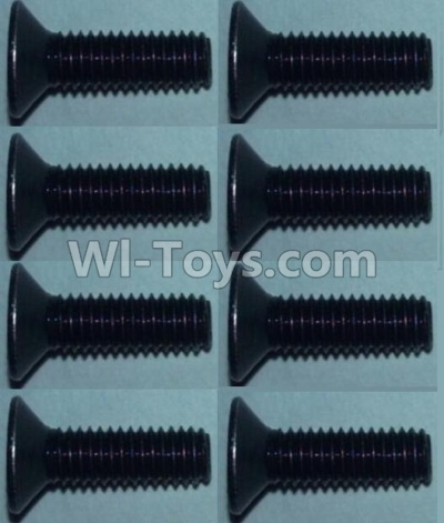 Wltoys 10428-B RC Car Parts-Flat head inner hexagon Screws Parts-M3X10-(8pcs),Wltoys 10428-B Parts