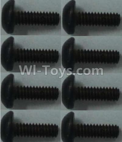 Wltoys 10428-B RC Car Parts-Pan head inner hexagon Screws Parts-M2X6-(8pcs),Wltoys 10428-B Parts