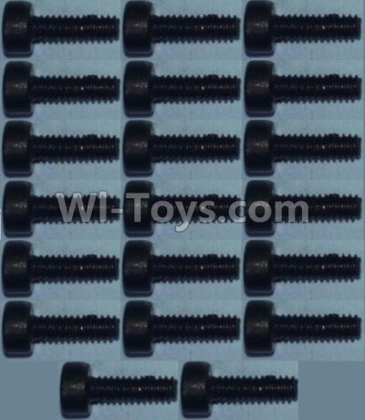Wltoys 10428-B RC Car Parts-Cup head inner hexagon Screws M2X6-(20pcs),Wltoys 10428-B Parts