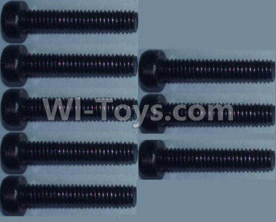 Wltoys 10428-B RC Car Parts-Cup head inner hexagon Screws Parts-M2.5X12-(8pcs),Wltoys 10428-B Parts