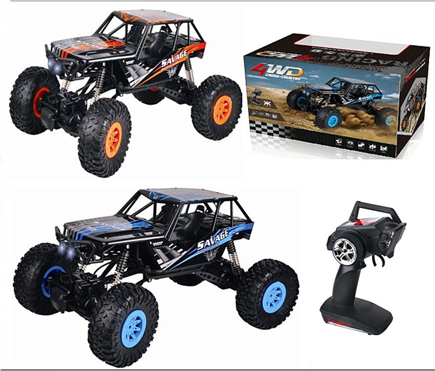 Wltoys 10428-D RC Car 1/10 1:10 Wltoys-Car-All Scale 2.4GHz 4WD 18KM/H Electric Brushed Crawler Off-Road Truck RTR For Sale