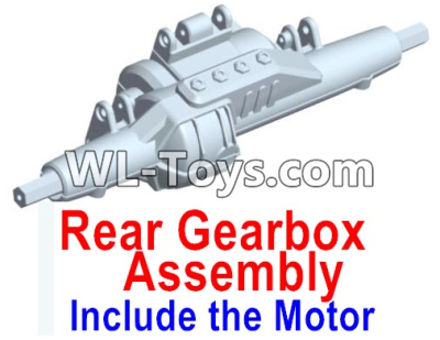 Wltoys 10428-E RC Car Parts-Rear drive gearbox assembly (lithium version)-Include the Motor-10428-D.0696,Wltoys 10428-E 1/10 Parts