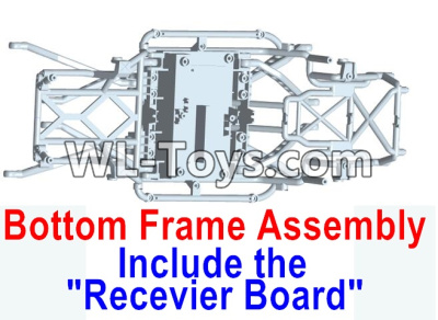 Wltoys 10428-E RC Car Parts-Bottom frame assembly-(Include the Receiver board)-10428-D.0699,Wltoys 10428-E 1/10 Parts
