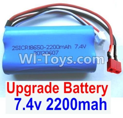 Wltoys 12401 Upgrade Parts-Upgrade Battery Parts-7.4v 2200mah battery with T-shape plug(1pcs)-Size-65X38X18mm-12401-0123,Wltoys 12401 Parts