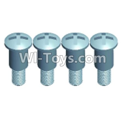 Wltoys 12401 RC Car Parts-Pan head Half tooth screws(4PCS)-M3X10-Bottom tooth lehgth 5mm-12401-0275,Wltoys 12401 Parts
