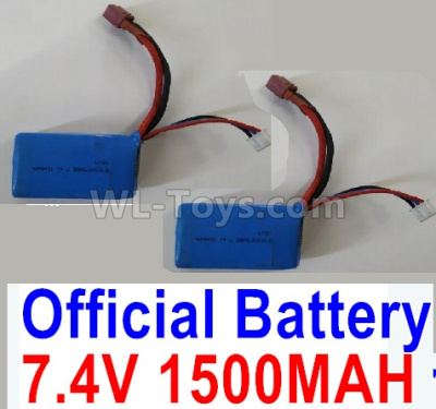 Wltoys 124012 RC Car Parts-Battrey Parts-7.4V 1500mAh 25C Battery-62x33.5x20mm(1PCS)-A959-B-23,1/12 Wltoys 124012 Parts