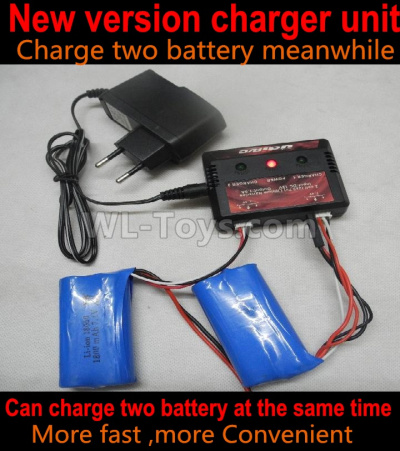 Wltoys 124012 RC Car Upgrade version charger-Can Charge Two battery at the same time(Not include the 2x Battery),1/12 Wltoys 124012 Parts
