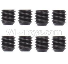 Wltoys 124012 RC Car Parts-M3 Machine Screws for the Motor Gear(8PCS)-M3X3-12428.0098,1/12 Wltoys 124012 Parts