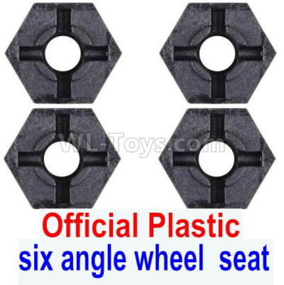 Wltoys 124012 RC Car Parts-Combination device Parts, six angle wheel seat-Plastic(4pcs)-124011.1233,1/12 Wltoys 124012 Parts