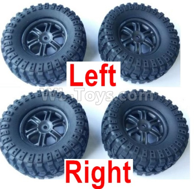 Wltoys 124012 RC Car Parts-Left and Right Wheel Assembly Parts(Total 4 set),1/12 Wltoys 124012 Parts