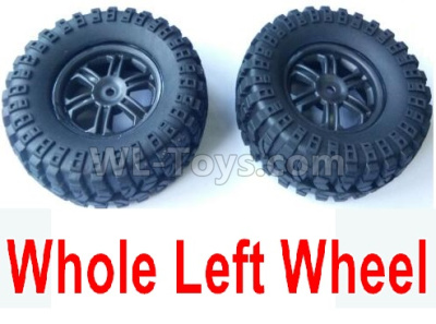 Wltoys 124012 RC Car Parts-Left Wheel Assembly Parts(2 Set)-Whole Left Wheel,include the Tire lether,Wheel Hub,sponge-124011.0974,1/12 Wltoys 124012 Parts